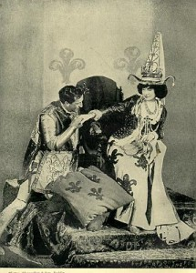 Frank and Constance Benson as Henry V and the Princess of France in the wooing scene from Henry V