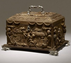 Garrick's mulberry wood casket