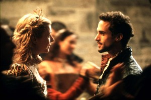 A still from the film Shakespeare In Love, with Gwyneth Paltrow and Joseph Fiennes