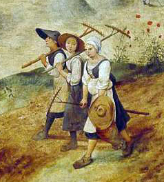 A detail from Breughel's The Hay Harvest