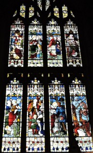 The Seven Ages of Man window in Holy Trinity