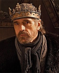 Jeremy Irons as Henry IV in The Hollow Crown