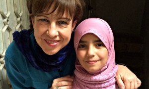Lyse Doucet with Daad, one of the children she followed