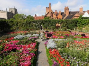 The Knot garden, looking towards the Guild Chapel and Falcon Hotel