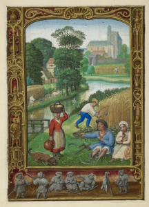August from a book of hours