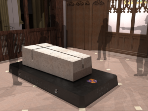 The design for Richard III's tomb in Leicester Cathedral