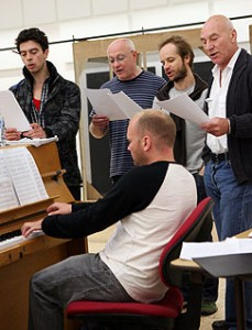Actors in rehearsal for the RSC