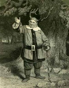 James H Hackett as Falstaff