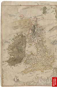 The map of the British Isles from Mercator's Map of Europe
