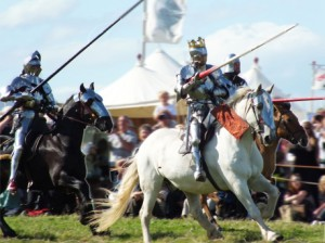 The 2013 re-enactment of the cavalry charge at Bosworth