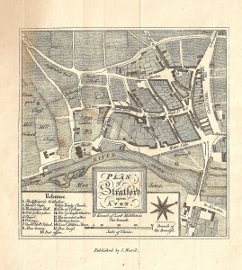 The map of Stratford from Wheler's 1814 Guide