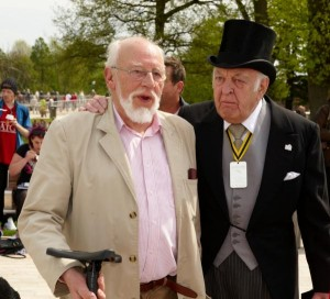 Jeffery Dench and Donald Sinden attending the Shakespeare Birthday celebrations. Photo by Stratford-on-Avon District Council