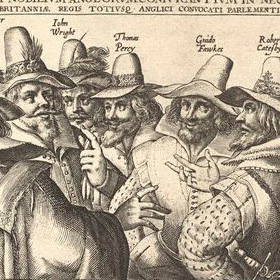 An engraving of the Gunpowder plotters