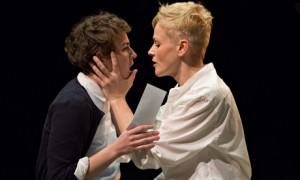 Katie West as Ophelia and Maxine Peake as Hamlet.