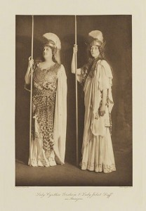 Lady Cynthia Graham and Lady Juliet Duff as Amazons, SMNT Ball, 1911