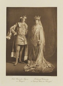 Lord Alexander Thynne and the Duchess of Westminster as Henry VI and Queen Margaret, SMNT Ball 1911