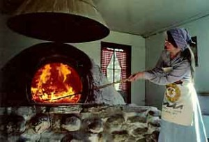 A modern wood-fired oven