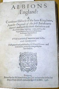 Albion's England, printed by the Widow Orwin 1596