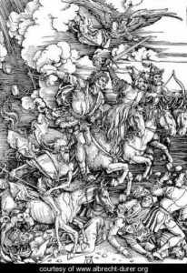 Durer's engraving of The Four Horsemen of the Apocalypse