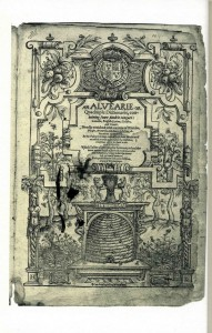 The title-page of Alvearie