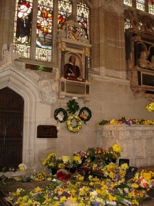 The Chancel of Holy Trinity Church with floral offerings