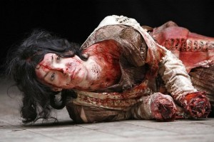 Laura Rees as Lavinia in Titus Andronicus, Shakespeare's Globe 2006. Photo by Donald Cooper