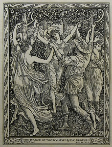 The nymphs and reapers from The Tempest, by Walter Crane