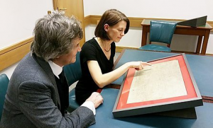 Melvyn Bragg coming face to face with Magna Carta at the British Library
