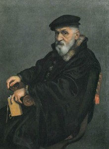 Portrait of an Elderly Man Seated with a Book