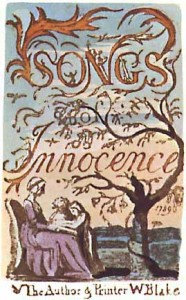 The title page of Songs of Innocence, 1789