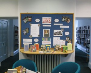 Shakespeare Week display at Windermere Library