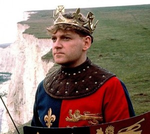 Kenneth Branagh in the film of Henry V