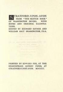 Washington Irving: the 1900 edition