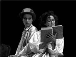Juliet Stevenson as Rosalind, Fiona Shaw as Celia, RST 1985