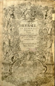 The title page of Gerarde's Herball, 1597