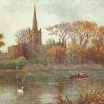 Holy Trinity Church from across the Avon