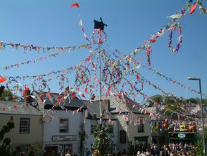 The Padstow maypole