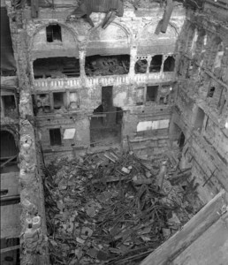 The aftermath of the bombing of Parliament May 1941