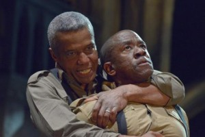 Hugh Quarshie and Lucian Msamati in Othello, RSC 2015