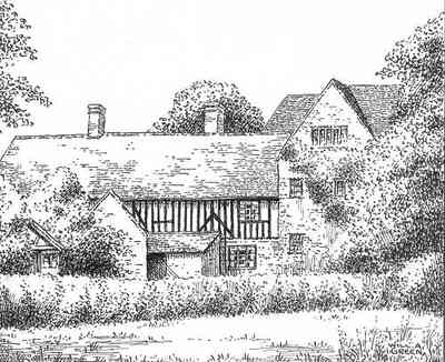 A print of Hillborough Manor from 1943