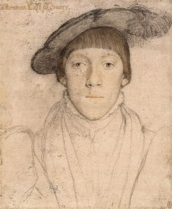 Holbein's sketch of Henry Howard, Earl of Surrey