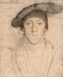 Holbein's sketch of Henry Howard, Earl of Surrey