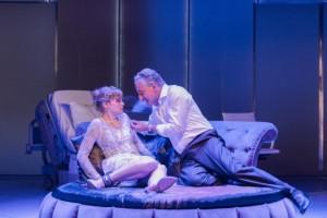 Rhiannon Handy as Celia, Henry Goodman as Volpone