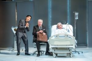 Orion Lee as Mosca, Matthew Kelly as Corvino, Henry Goodman as Volpone