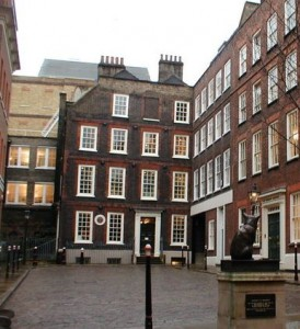 Dr Johnson's House in London