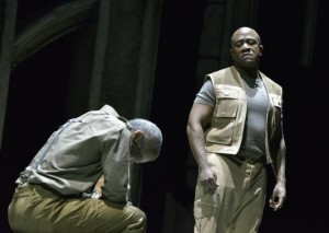 Hugh Quarshie as Othello, Lucian Msamati as Iago in the RSC's 2015 Othello
