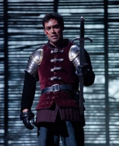 Alex Hassell as Prince Hal in Heny IV, photo by Kwame Lestrade