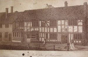 Robert Bell Wheler's illustration of the Birthplace