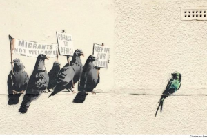 Banksy's 2014 take on immigration