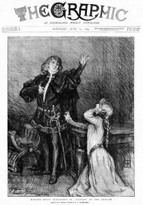 The Graphic,  June 17 1899. Bernhardt as Hamlet with Marthe Mellot as Ophelia